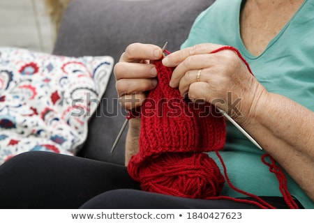 old woman knitting stock photo © razvanphotography