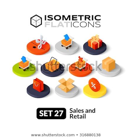 Online shopping isometric 3D icons set Stock photo © studioworkstock