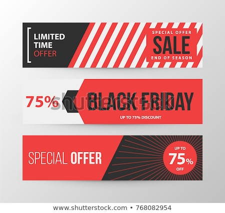 Special offer banner in trendy style Stock photo © studioworkstock