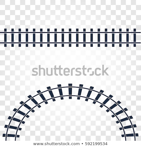 em · linha · reta · ferrovia · linha · ferrovia · acima · branco - foto stock © studioworkstock