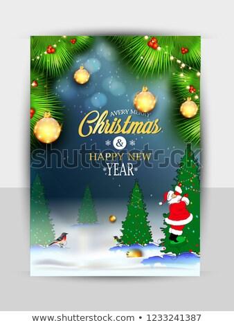 Vettore allegro Natale party design vacanze Foto d'archivio © articular