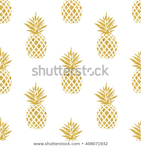 Pattern of pineapple illustration. design graphic Stock photo © alexmillos
