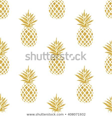 Pattern of pineapple illustration. design graphic Stock photo © alexmillos