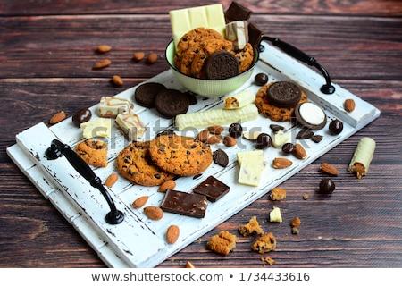 Amandel dieet gezonde kruidenier sluiten Stockfoto © M-studio