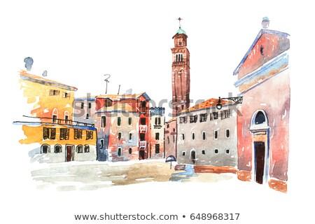 Facade of venetian house Stock photo © Givaga
