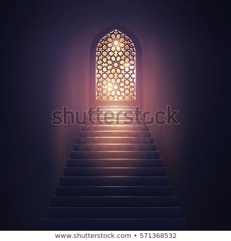 Mezquita puerta luces patrón Foto stock © SArts