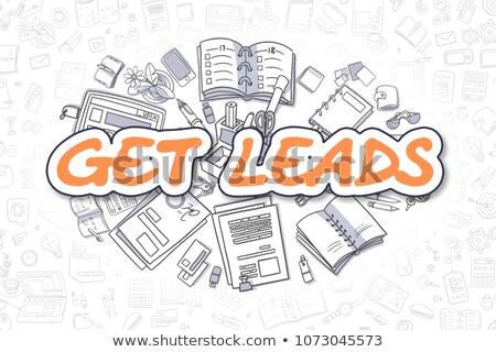 Get Leads - Cartoon Orange Text. Business Concept. Stock photo © tashatuvango