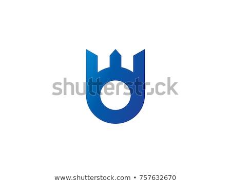 Levél logo absztrakt korona terv kreatív Stock fotó © taufik_al_amin