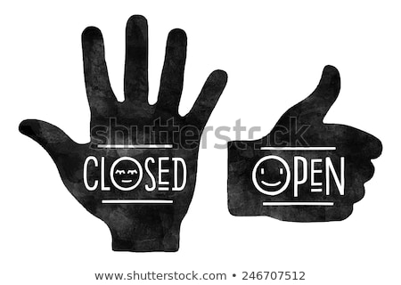 stop hand closed and thumb up open stock photo © foxysgraphic