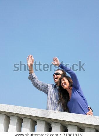 Casal varanda Veneza Itália homem Foto stock © IS2