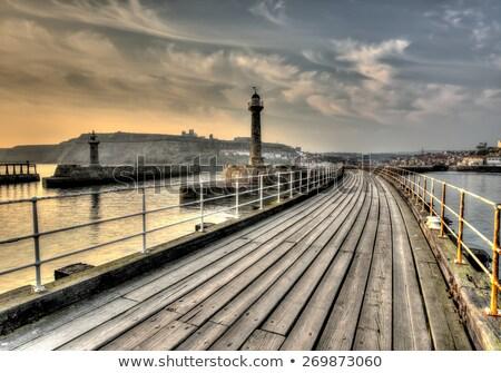 Iskele uzun pozlama kuzey yorkshire manzara ışık Stok fotoğraf © chris2766