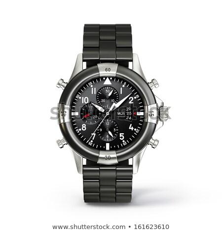 Odizolowany biały czarny zegar projektu Zdjęcia stock © daboost