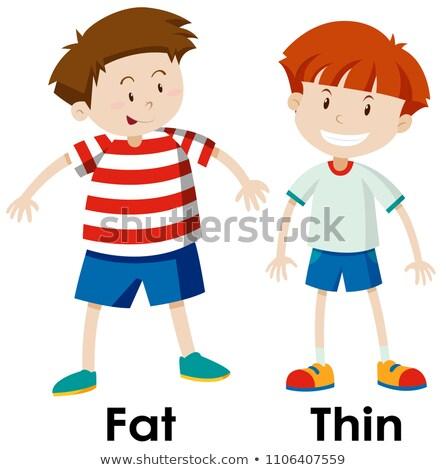 Differenze grasso medico medici fitness salute Foto d'archivio © bluering