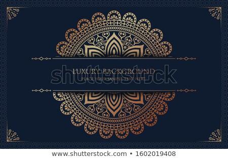 Hermosa dorado mandala decoración arte yoga Foto stock © SArts