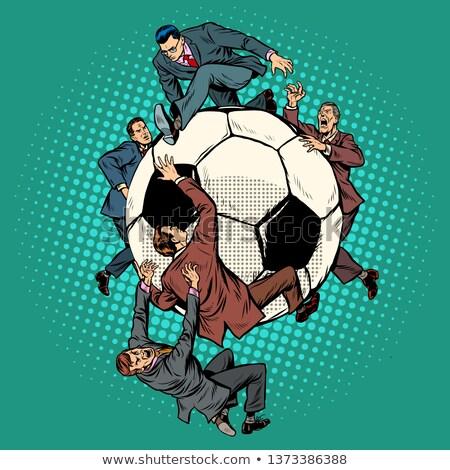 Concurrence football ballon pop art rétro vintage Photo stock © studiostoks