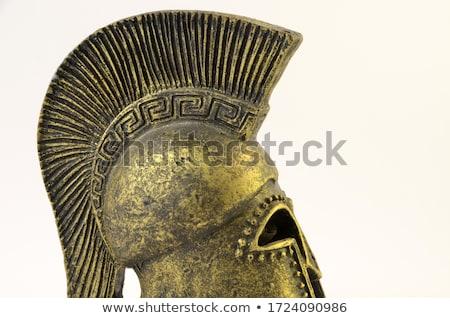 Zdjęcia stock: Spartan Ancient Greek Helmet