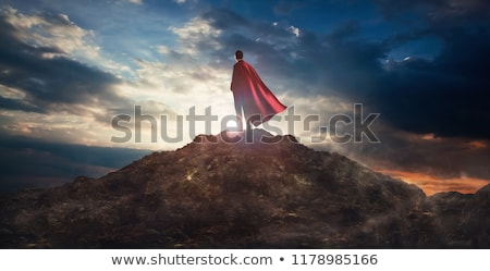Super Hero Businessman Silhouette Stock photo © Krisdog