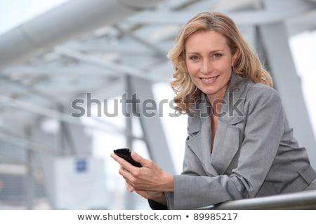 blond hair business women_travel Stock photo © toyotoyo