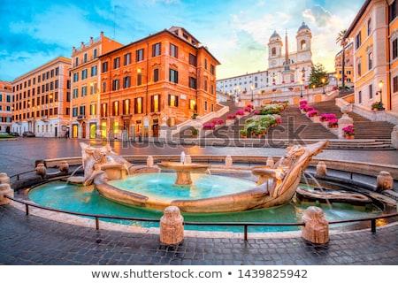 Fontana Roma Italia bella cielo costruzione Foto d'archivio © Givaga