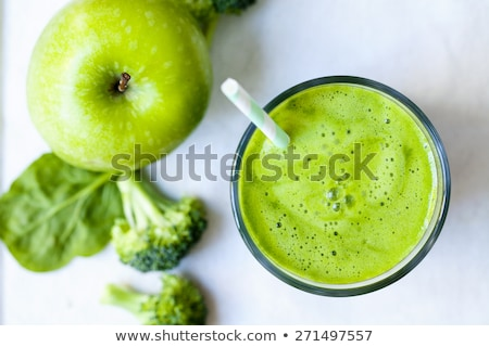 smoothie · vert · bol · fruits · fond · boire · couleur - photo stock © artjazz