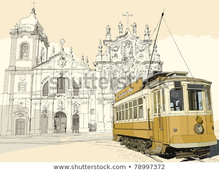 typical tramcar in the old town of Porto, Portugal Stock photo © nito