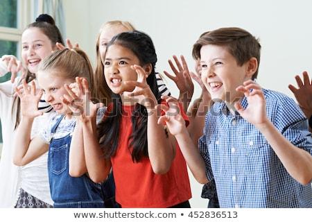 kinderen · drama · klasse · illustratie · achtergrond · venster - stockfoto © bluering