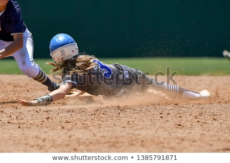 Softball joueur cartoon illustration femmes balle Photo stock © cthoman