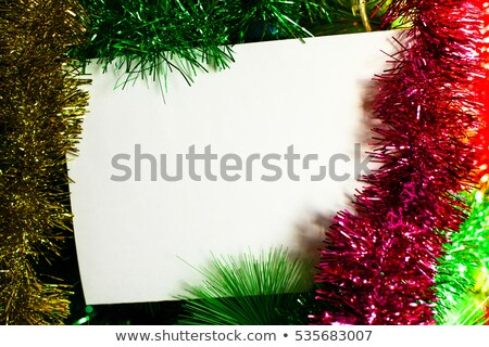Christmas fir tree with decoration and with white sheet for fest Stock photo © Kotenko