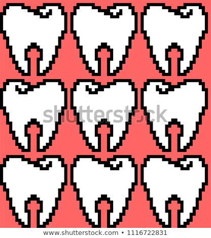 Dents pixel art modèle bit Photo stock © MaryValery