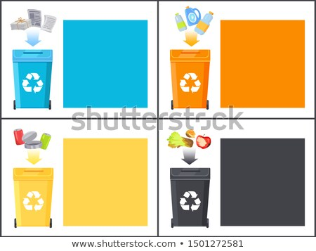 Organic and Metal Waste Sample Colorful Posters Stock photo © robuart