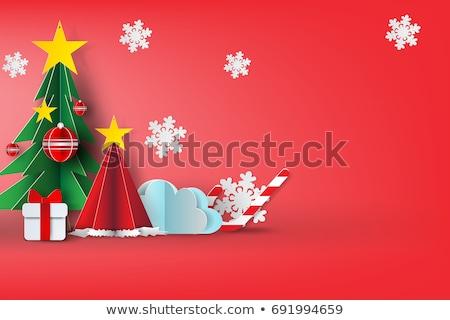 Noël · coffret · cadeau · bonbons · canne · branche - photo stock © karandaev