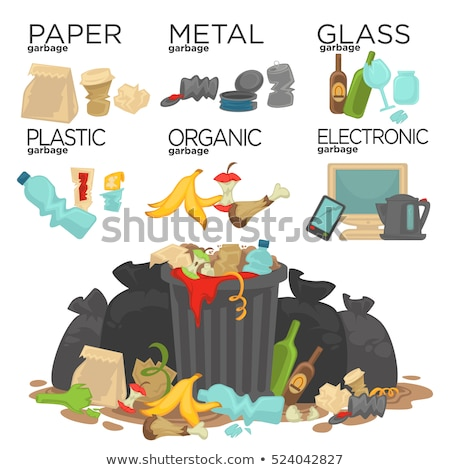 Organic and Metal Garbage Vector Illustration Stock photo © robuart