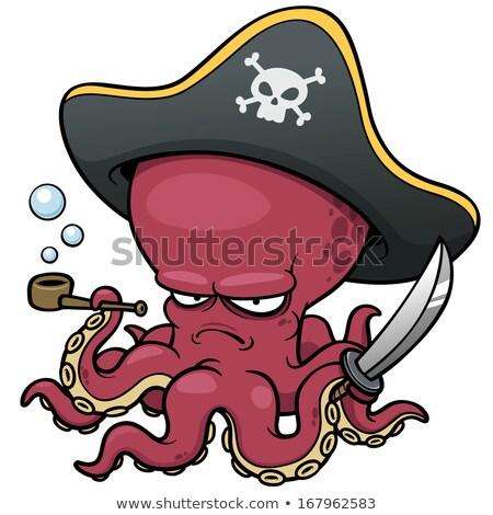 Evil Cartoon Squid Stock photo © cthoman