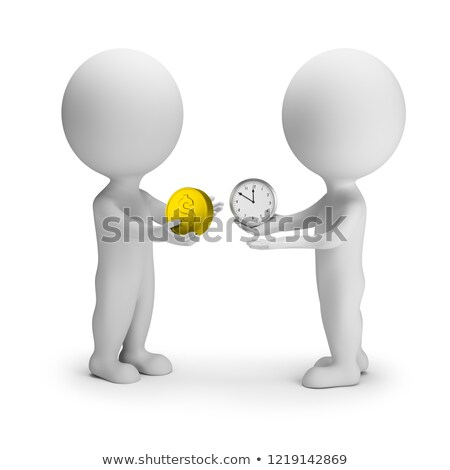3d small people   exchange of time for money stock photo © anatolym