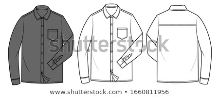 kleding · vector · mannen · ontwerp · winter · shirt - stockfoto © freesoulproduction