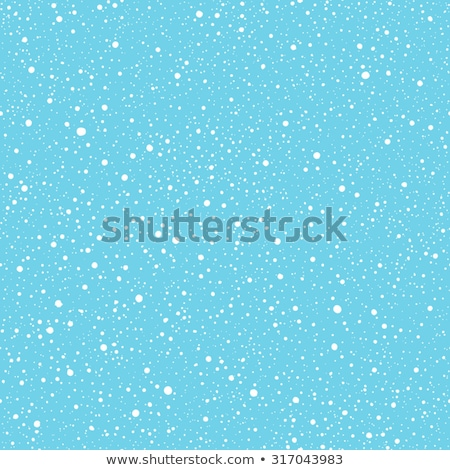 Falling snow seamless pattern. White snow and blue sky vector background. Winter snowfall Stock photo © ESSL