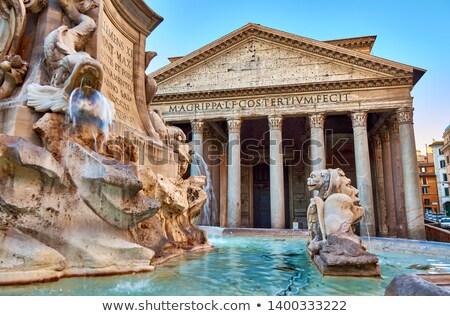 Romeinse · ochtend · Italië · hemel · wolken · gebouw - stockfoto © givaga