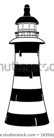 a stylised black lighthouse vector illustration stock photo © vicasso