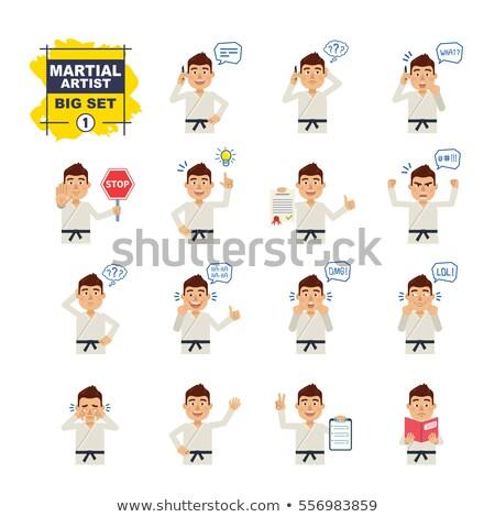Cartoon karate uomo idea felice Foto d'archivio © cthoman