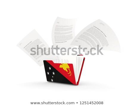 папке флаг Папуа-Новая Гвинея файла изолированный белый Сток-фото © MikhailMishchenko