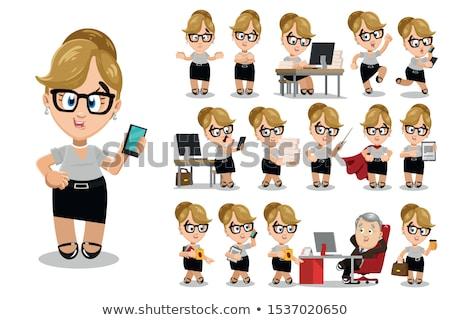 Ayarlamak kadın öğretmenler tablet el dijital Stok fotoğraf © robuart