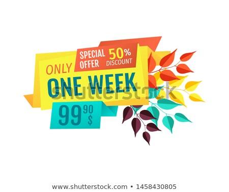 Speciale autunno prezzo uno settimana promo Foto d'archivio © robuart