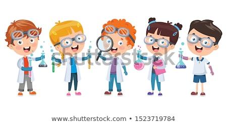 Erkek deney tüpü eğitim kimya okul eğitim Stok fotoğraf © dolgachov