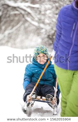 ребенка · матери · парка · зима · женщину · стороны - Сток-фото © lopolo
