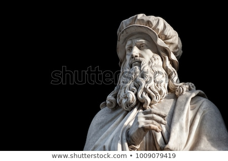 Leonardo da Vinci monument in Florence, Italy Stock photo © boggy