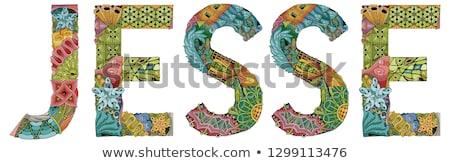 Photo stock: Homme · nom · vecteur · décoratif · objet · art