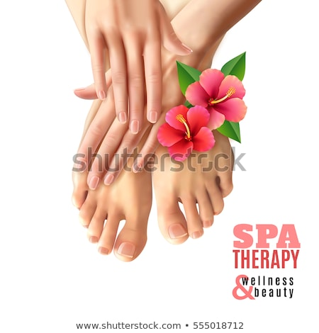 Pedicure manicura carteles vector establecer texto Foto stock © robuart
