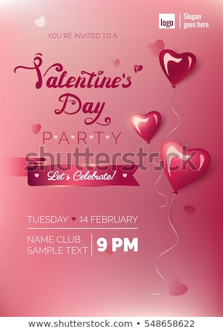 awesome flyer template for valentines day Stock photo © SArts