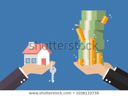 房地產 · 插圖 · 手 · 錢 · 房子 - 商業照片 © kali