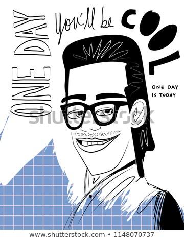 Nerd studente carattere illustrazione donna libro Foto d'archivio © bluering